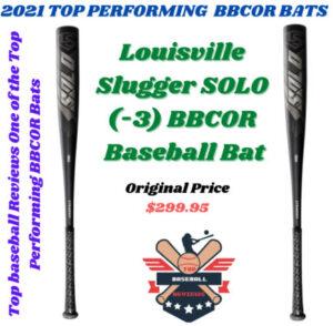 2021 Louisville Slugger Solo BBCOR(-3) Baseball Bat